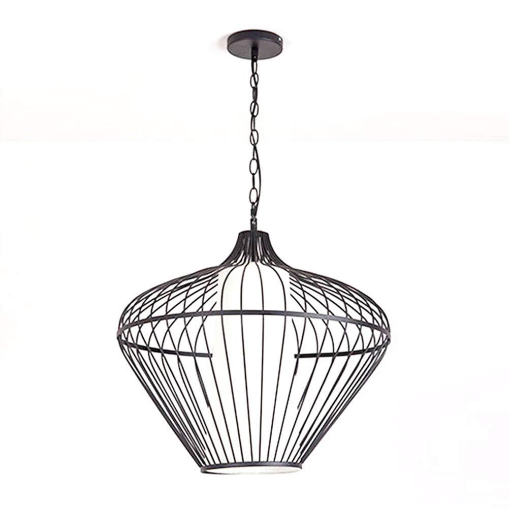 Light-S 北欧クリエイティブシャンデリア錬鉄製の鳥かご天井灯シンプルなレストランハングランプスタンドバーledペンダントライト   B07TV24JHJ