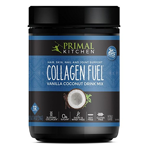 Primal Kitchen Collagen Fuel Protein Mix, Vanilla Coconut - Non-Dairy Coffee Creamer & Smoothie Booster- Supports Healthy Hair, Skin, and Nails, 13.1 Ounce (Pack of 1)