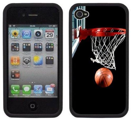 Basket   Fait à la main   iPhone 4 4s   Etui Housse noir