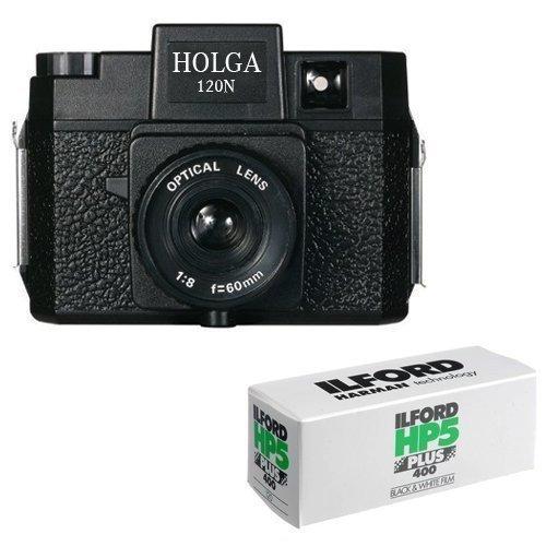 Holga 120N Medium Format Film Camera (Black) with 120 Film Bundle by Holga