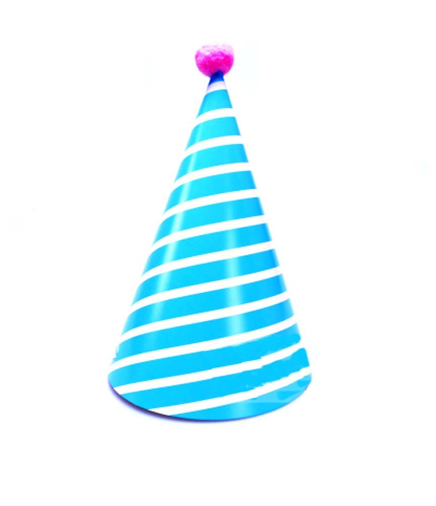 Amazon.com: PANDA SUPERSTORE 8Pcs Kids Birthday Hat Party Blue Stripe Hat  Party Supplies: Toys & Games
