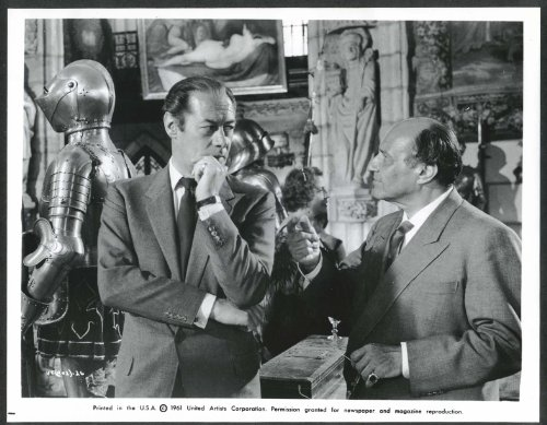 Rex Harrison Peter Illing The Favourable Thieves 8x10 photograph 1961