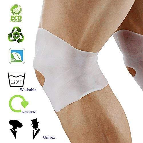 Knee brace - 1 pair gel knee braces for women & men - patella tendon support for knee strains/sprains, arthritis, ACL, tendonitis, swelling, stiffness or injury - for basketball, crossfit, tennis, gym (Gel Knee Support)