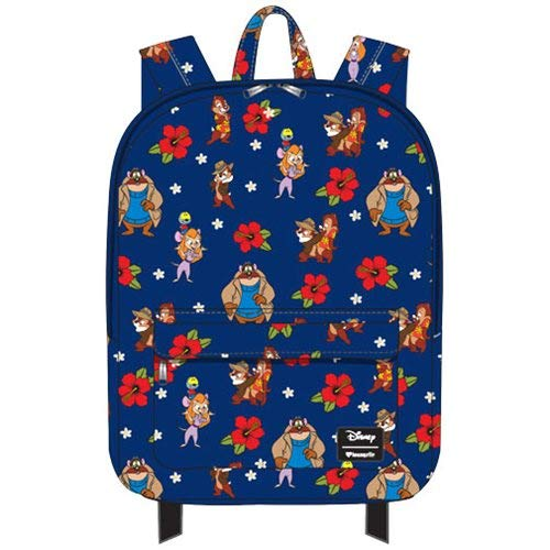 Ranger Laptop - Loungefly x Disney Chip 'N Dale: Rescue Rangers Floral Backpack (One Size, Navy Multi)