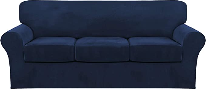 Stretch Luxury Thick Velvet Sofa Slipcover