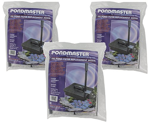 Pondmaster Replacement (Pondmaster Coarse Foam Pad Replacement Filters (3)