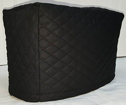Quilted Toaster Cover (4 Slice, Black)