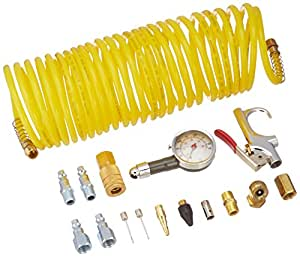 Freeman APWH1414I Industrial Pneumatic Accessory Pack with Hose, 16-Piece
