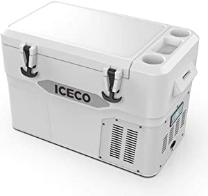 ICECO JP42 Pro, 3 in 1 Refrigerator, 12 Volt Portable Fridge Freezer Cooler, Powered by SECOP, Rotomolded Construction (White)