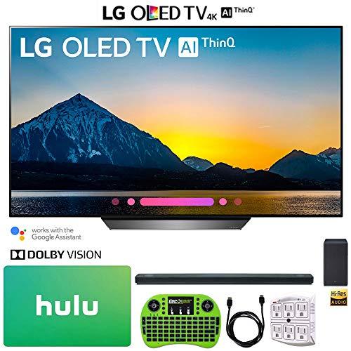LG OLED65B8PUA 65″ Class B8 OLED 4K HDR AI Smart TV (2018) + LG SK10Y 5.1.2-Channel Hi-Res Audio Soundbar Dolby Atmos + Hulu $100 Gift Card + More