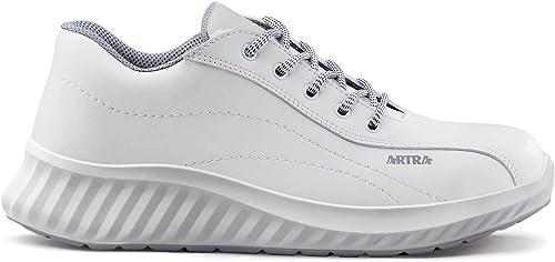 ARTRA ARAWA Chaussures de Travail antid/érapantes sans Capuchon en Acier Blanc