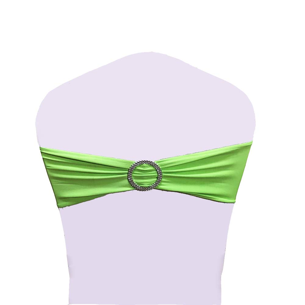 Dark Green LTD. SINSSOWL 100PCS Stretch Wedding Chair Bands with Buckle Lycra Slider Sashes Bow Decorations 25 Colors /… JUNBO CRAFT CO