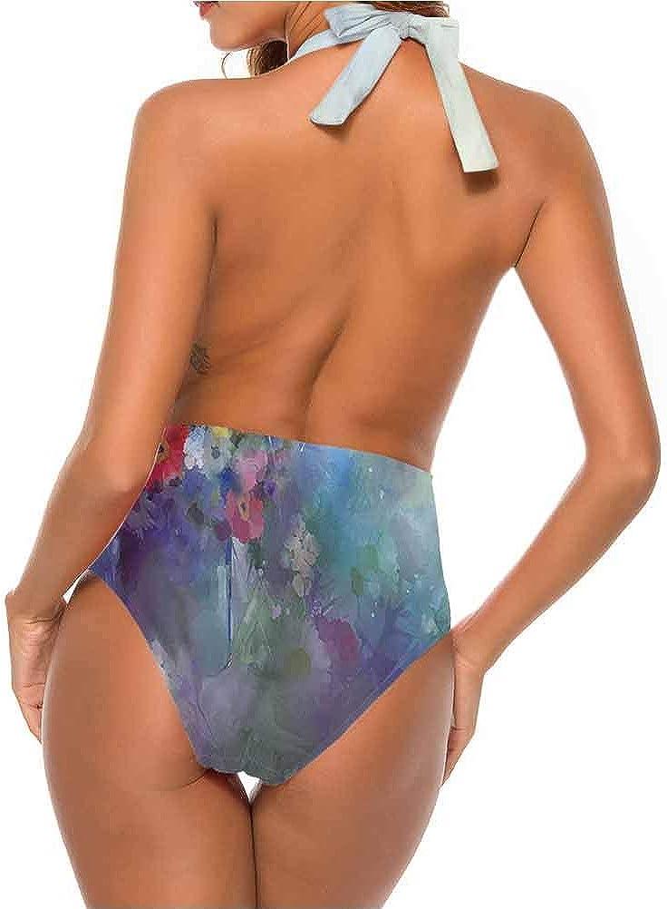 Adorise Custom Cute Maillots de bain Fleur Monochrome Artful Plante pour Bachelorette Party Multi 21.