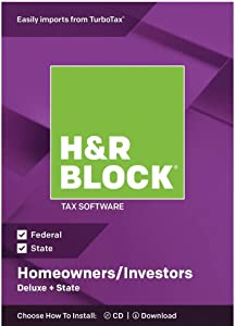 H&R BLOCK Tax Software Deluxe + State 2018