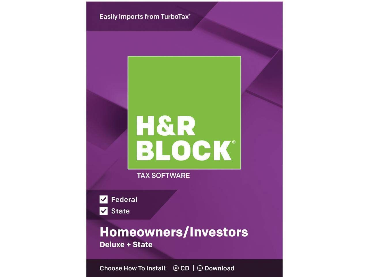 H&R BLOCK Tax Software Deluxe + State 2018 by H&R