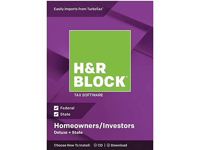Amazon.com: H&R BLOCK Tax Software Deluxe + State 2018: Software