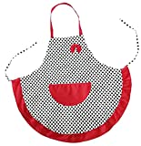 ALLICERE Lovely Dot Cotton Canvas Bow Apron Restaurant Kitche Cooking Chef Waitress Aprons for Women Girls with Pockets