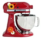 kitchenaid mixer flower - Warm Sunflower Autumn Flowers Color Kit Mixer Machine Art Wrap