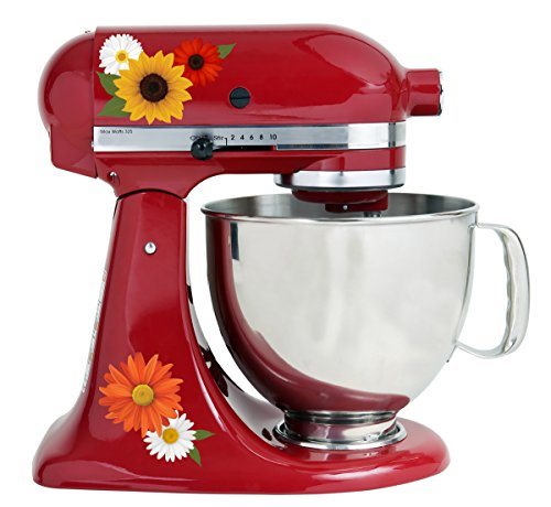 Warm Sunflower Autumn Flowers Color Kit Mixer Machine Art Wrap