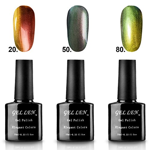 Gellen 3Pcs Set 10ml New Fashion Gel Nail Polish UV Gel Cham