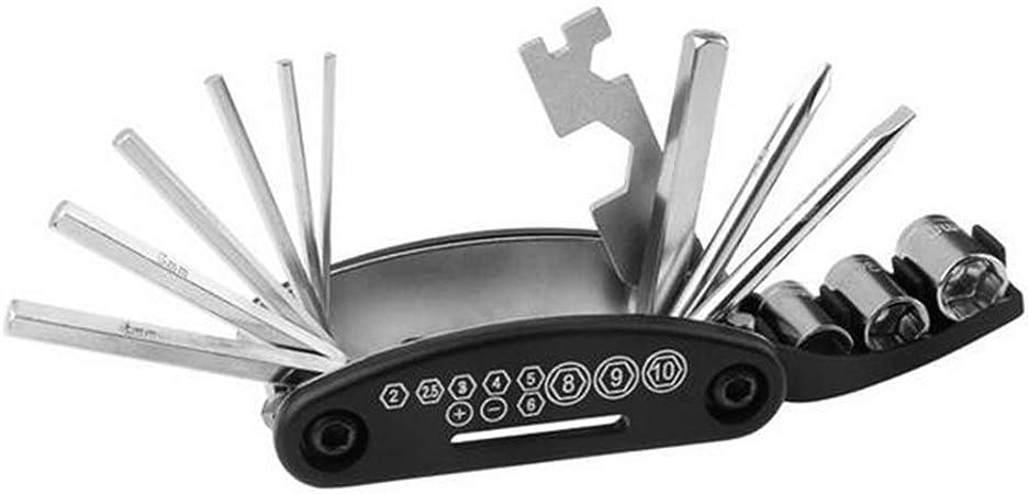 16 in1 Bicycle Road Mountain Repair Tool Bike Pocket Multi Function Folding Tool