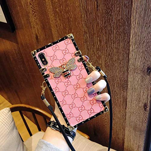Case for iPhone XR, Wallet with Lanyard New Classic Luxury Style Fashion PU Leather Protective Deliver Guarantee Fulfilled by Amazon Case Cover for Apple iPhone XR