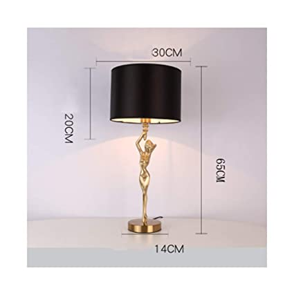 Amazon.com: PPWAN Table Lamp American Simple High-Grade ...