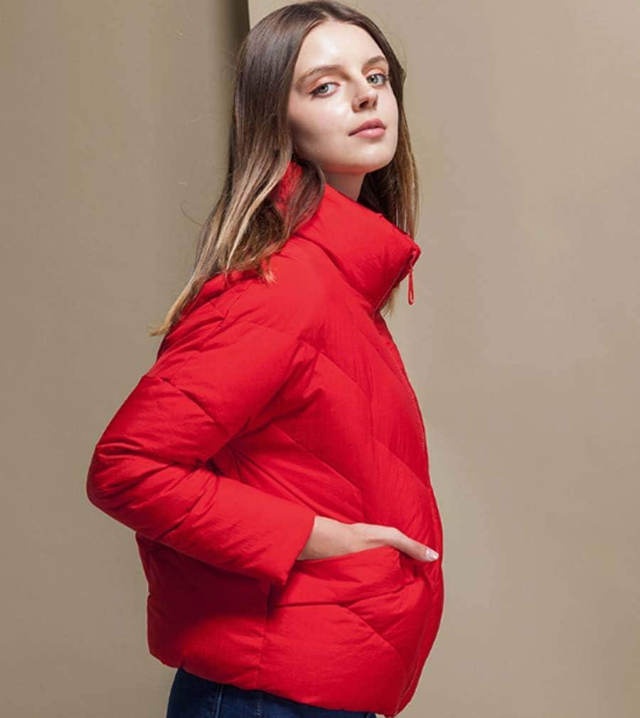 Inverno Puffer Max Lunga da Donna Cappotto Vegan Piumino Artico Cappotto Ispessito Cappotto Incappucciato Red