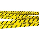 Birthday Zone Party Tape • 3 In. wide X 100 Ft. Long • High Visibility • Tear Resistant Design • Great for Construction-Themed Parties