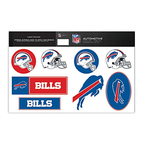 Skinit Buffalo Bills Decal Packs - Officially Licensed by the NFL - 8 Premium 3M Vinyl Stickers