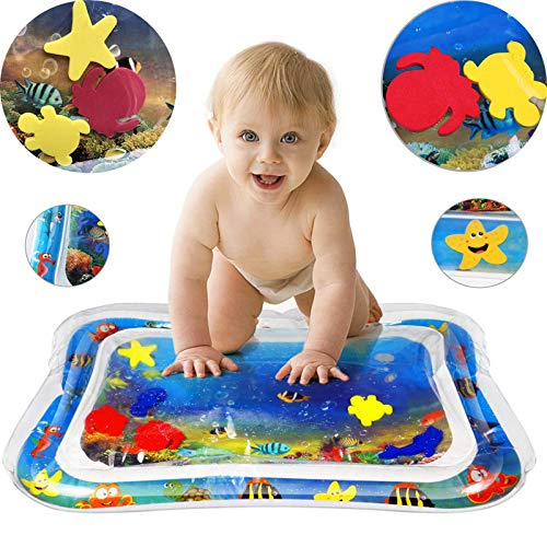 Marvelights Newborn Inflatable Water Mat 22'x18' Tummy Time Leakproof PVC Material Water Filled Prostrate Cushion Pat Playmat for Infants, Toddlers & Baby's Stimulation Growth