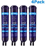 Kenmore 4396-841 4396-710 Refrigerator Water Filter 3 Replacement for EDR3-RXD1 Kenmore 469030 46-9083 Filter 3, 4Pack