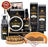 Beard Kit for Men Grooming & Care W/Beard Wash/Shampoo,Unscented Beard Growth Oil,Beard Balm