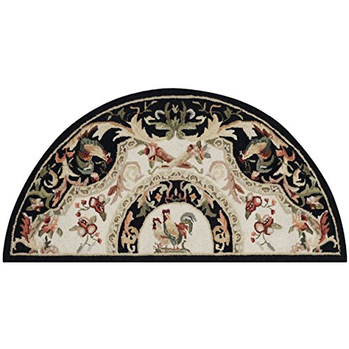 Safavieh Chelsea Collection HK48K Hand-Hooked Ivory and Black Premium Wool Area Rug (2'6