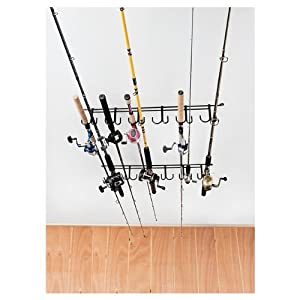 Rack'Em 7009 Overhead 12-Rod Fishing Rod Rack
