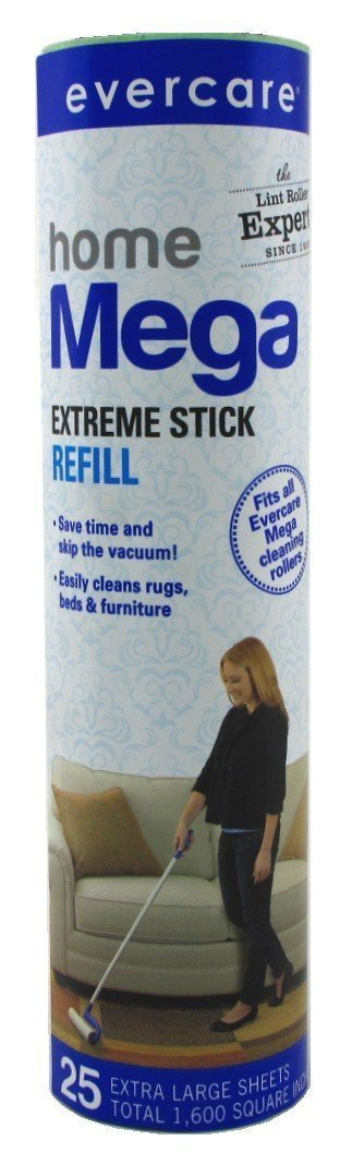 Evercare Mega Extreme Stick Refill 25 Sheets 10Inches Wide (6 Pack)