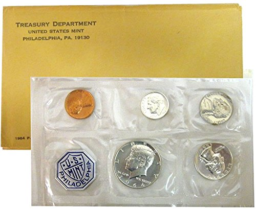 (1964 P US PROOF set 5 PCS In Original packaging from US mint Proof)