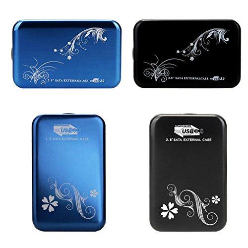 Baoblaze Caja de Disco Duro USB3.0 Caja de Caddy Case Caja de disco duro para 2.5 SATA 7-9.5mm Drive - Negro Azul