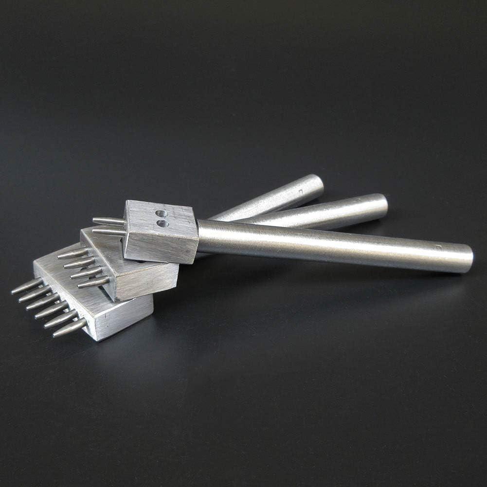 Heylas Outils de Perforation Faits Main 6 mm ciseau /à Cuir pour Coudre Le Cuir poreux