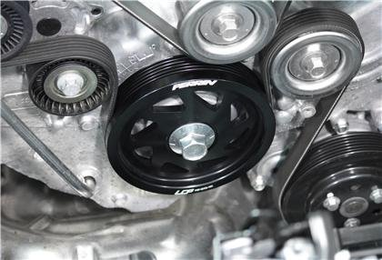 (Perrin Performance PSP-ENG-101BK Black Impresa Crank Pulley Subaru BRZ / 13 Scion Fr-S / 12-13)