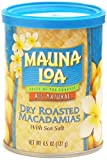 Mauna Loa Dry Roasted & Salted Macadamia Nuts, 4.5-Ounce Can (Pack Of 12)