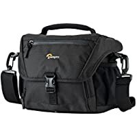 Lowepro Nova 160 AW. DSLR Shoulder Camera Bag for Pro DSLR with Attached 17-85mm Compact Photo Drone.