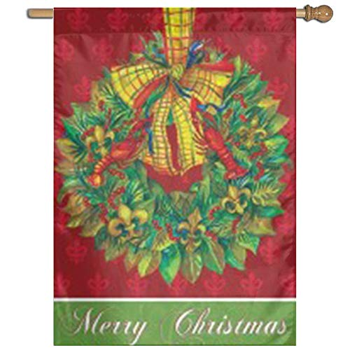 AFCFTDY House Flag Decorative Garden Flag-Merry Christmas Po
