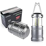 LED Camping Lantern - Ouyoooo Ultra Bright Portable Military Grade Lantern with Collapsible, Magnetic Base, Waterproof and Shockproof - Best for Outdoor Camping, Emergency, Hurricane, Storm, Outage (2 pack)…