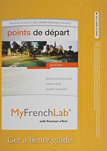 Points De Depart Myfrenchlab Access