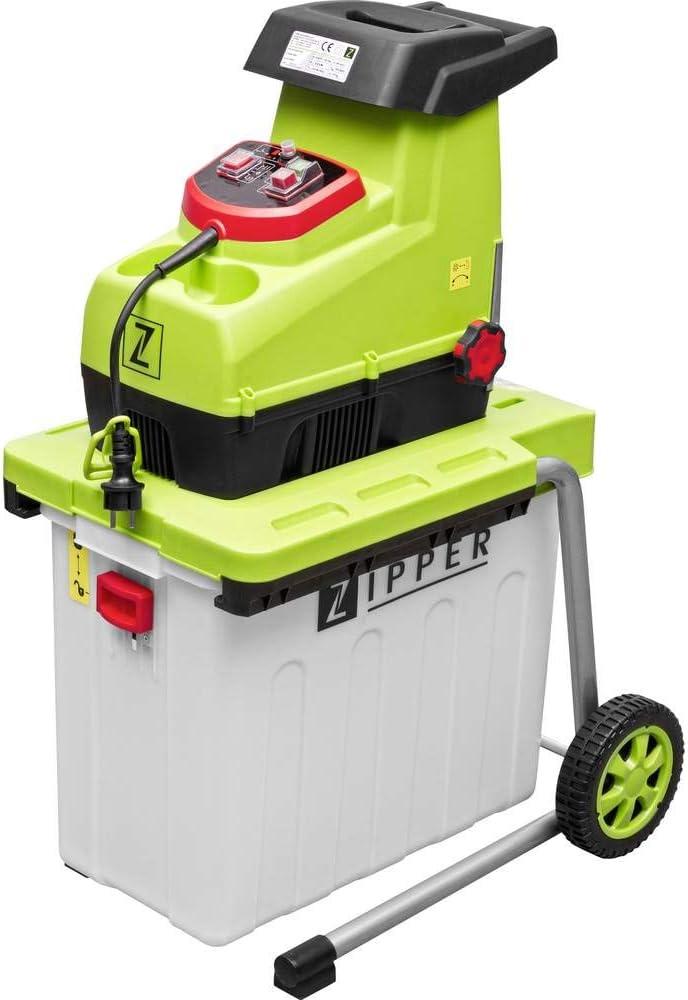 Zipper Trituradora Zi-Ghas2800 Compostadora Silenciosa Astilladora Jardin 2800W