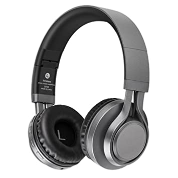 Auriculares Bluetooth Con Mic Cómodas Auriculares Soporte TF Tarjeta FM Auriculares Inalámbricos Bass Gaming Auriculares Para iphone Xiaomi PC , dark grey: ...