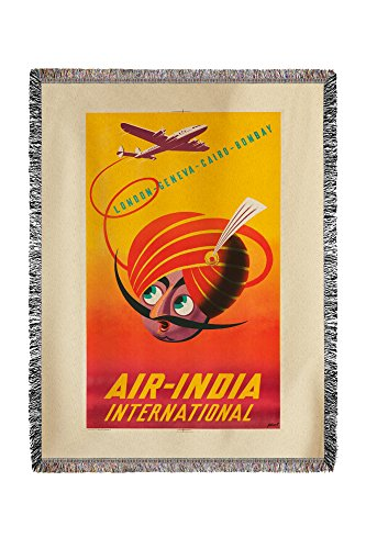 air-india-international-vintage-poster-artist-asiart-india-c-1948-60x80-woven-chenille-yarn-blanket