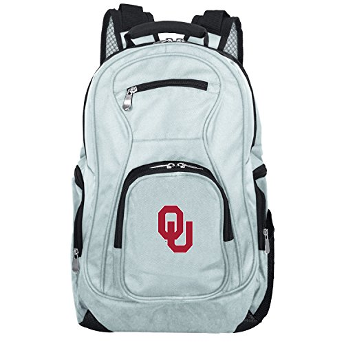 NCAA Oklahoma Sooners Voyager Laptop Backpack, 19-inches, Grey