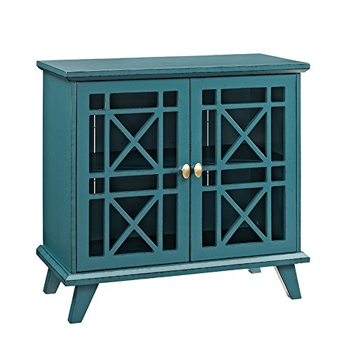 (WE Furniture AZ32FWABU Accent Console, 32